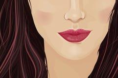 Close-up de uma cara das meninas Foto de Stock