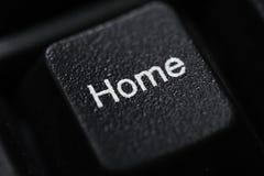 Close up de uma casa preta do botão do teclado Imagem de Stock