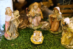 Close up de uma cena da natividade Foto de Stock Royalty Free