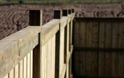Close-up de uma cerca nova Imagem de Stock Royalty Free