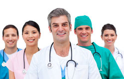 Close-up de uma equipa médica fotografia de stock