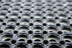 Close up de uma esteira de borracha usada com teste padrão interessante Fotografia de Stock Royalty Free