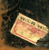 Close-up de uma etiqueta da alfândega dos E.U. dos anos 20 Fotos de Stock