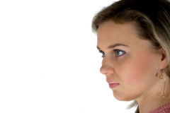 Close-up de uma face bonita Imagens de Stock