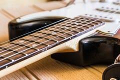 Close-up de uma guitarra foto de stock royalty free