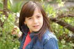 Close-up de uma menina Imagens de Stock