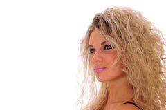 Close-up de uma mulher bonita fotos de stock royalty free
