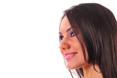 Close-up de uma mulher bonita Imagem de Stock Royalty Free