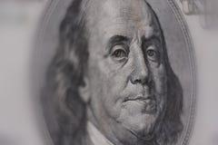 Close-up de uma nota de banco $100 fotos de stock royalty free