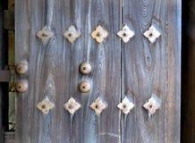 Close up de uma porta de Hikone Castle, Japão Imagem de Stock