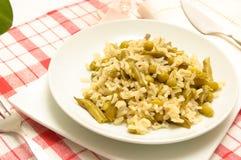 Close-up de uma refeição do vegetariano imagem de stock