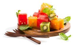Close-up de uma salada de fruta Imagem de Stock