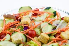 Close-up de uma salada fresca do jardim Foto de Stock