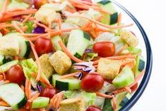 Close-up de uma salada fresca do jardim Imagem de Stock Royalty Free