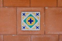 Close up de uma telha italiana tradicional Imagem de Stock