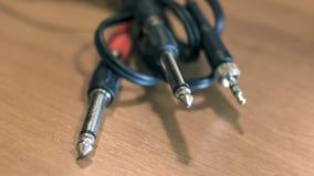 Close up de uma tomada audio estereofônica dos conectores Imagens de Stock Royalty Free