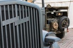 Close up de Vehicle& militar x27; grade do Frontal do ar de s Foto de Stock Royalty Free