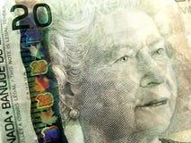 Close up de vinte dólares Bill Fotografia de Stock Royalty Free