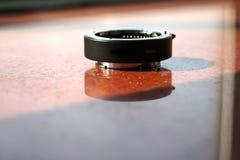 Close-up de zwarte vergrotingslens 16 mm Stock Fotografie