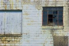 Close up of a Decaying brick building stock image