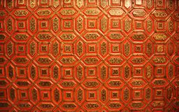 Close up of a ceiling. Close up of a decorated ceiling at the fort in the city of Bikaner, India stock photography