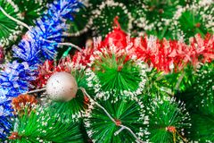 Close up of decorated Christmas tree Royalty Free Stock Photo
