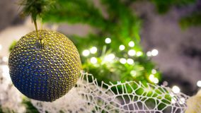 Close up of decorated x mas tree stock photo