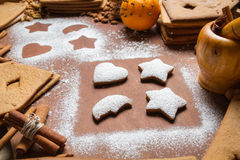 Close-up of decorated gingerbread cookies Royalty Free Stock Image