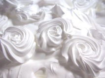 Close up decorated whip cream.  Stock Photography