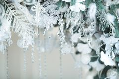 Christmas decorations close up royalty free stock photo