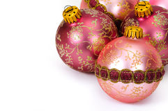 Close up decorative Christmas balls Royalty Free Stock Photography