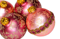 Close up decorative Christmas balls. Stock Photography