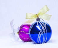 Close up of decorative Christmas balls Royalty Free Stock Photos