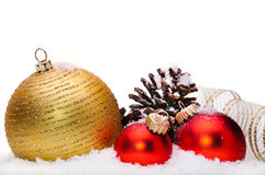 Close up of decorative Christmas ornaments Stock Image