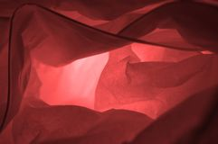 Close up decorative pink paper lamp for abstract background. stock images