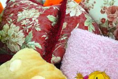 Close up of Decorative pillow Stock Photos