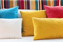 Close up of Decorative pillow Royalty Free Stock Image