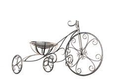 Close-up decorativo do triciclo do metal pequeno Imagens de Stock Royalty Free