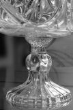 Close up of deep glass bowl Stock Images