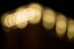 Close-up of defocused light Stock Images