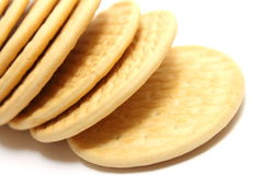 Close up delicious biscuit on white Royalty Free Stock Photos