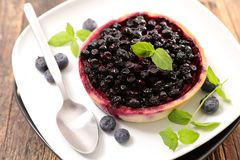Delicious blueberry tart. Close up on delicious blueberry tart Stock Photography