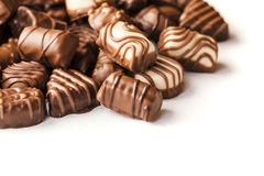 Delicious chocolate pralines Stock Photography