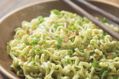 Close up delicious dried ramen noodles Royalty Free Stock Photos