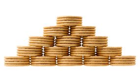 Close up delicious dutch biscuits Stock Photos