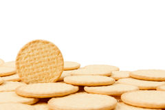 Close up delicious dutch biscuits Royalty Free Stock Images