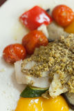 Close up of delicious fish dish Royalty Free Stock Images