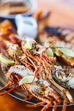 Grilled seafood platter Stock Photo
