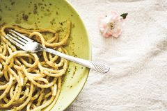 Bucatini pasta Royalty Free Stock Photography