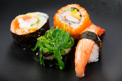 Close up the delicious Japanese sushi Stock Photography